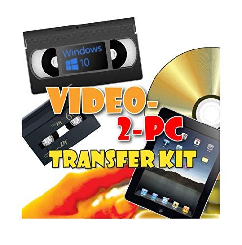 Video-2-PC DIY Video Capture Kit. For Windows 10, 8.1, 8, and 7. Links your VCR or Camcorder to the USB port on your PC. Copy, convert, transfer: VHS, Video-8, VHS-C, Hi8, Digital8, and MiniDV video tapes to digital format H.264, MPEG, MPEG-2, MPEG-4, YUV
