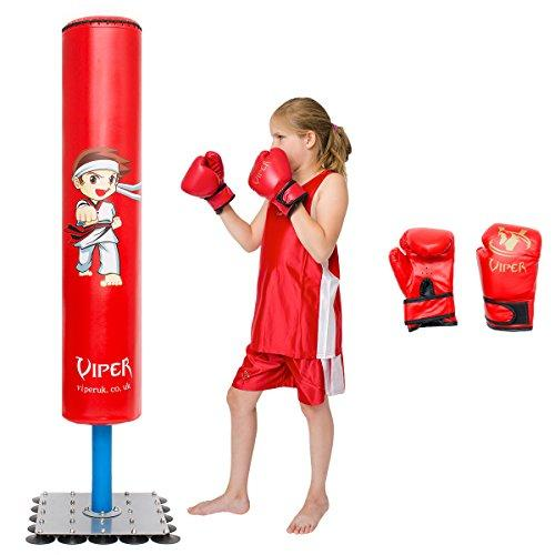 Viper Kids Junior Kick Gift Free Standing Boxing Punch Bag + Gloves Boxing Toy X-Mas