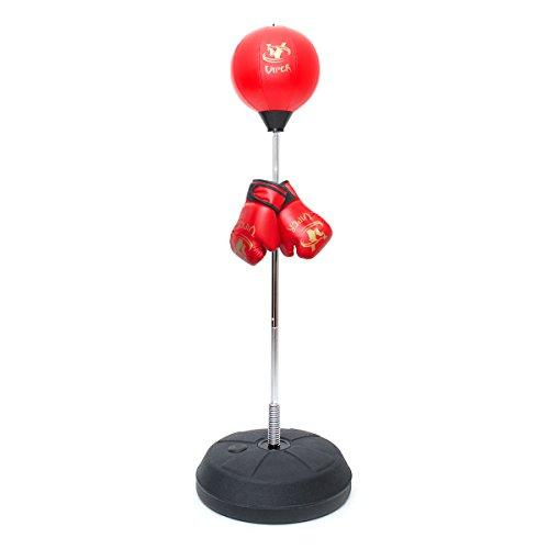 Viper Kids/Junior/Children Free Standing Punch Bag Set Boxing Toy 4FT with Free Gloves