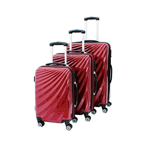 Viviana Luggage Set Red RED 3er SET BS-L-XL