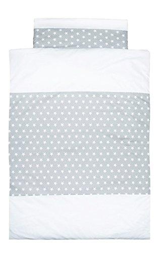Vizaro - Duvet Cover Bedding Set (150x200cm,40x75cm) for Single Bed (80-90 x 180-200cm) - 100% LUXURY COTTON - Made in EU - SAFE FOR BABIES - C. Little Stars