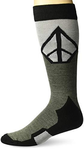 Volcom Men's Synth Heavy Weight Snow Sock Snowboarding, Vintage Black, S/M