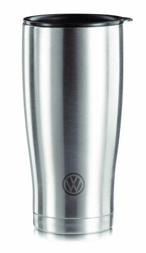 Volkswagen Original VW Thermal Mug, Matte Stainless Steel with VW Emblem Car, Thermos Flask