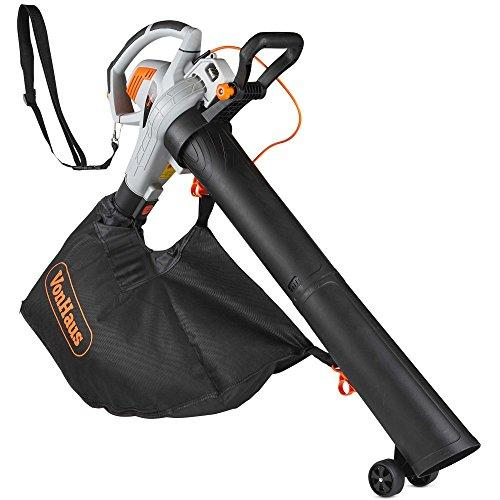 VonHaus 3 in 1 Leaf Blower - 3000W Garden Vacuum & Mulcher - Large 45 Litre Collection Bag – 15:1 Mulching Ratio – Variable Speed Settings 8000-14000 RPM – Anti-Vibration Damper