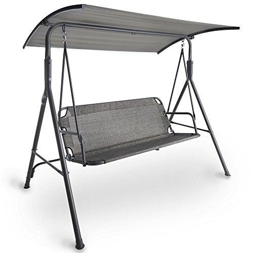 VonHaus Swing Seat With Canopy – Made from Easy-clean Textoline in a Modern Design