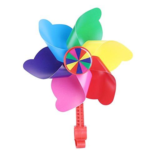 VORCOOL Colourful of the windmill of the decoration of the flower of the Handlebar for the Wind Spinner Motor of the Bike of the Child