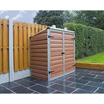 Voyager AMBER PLASTIC GARDEN SHED PALRAM WHEELIE BIN STORE LOCKABLE WITH BASE