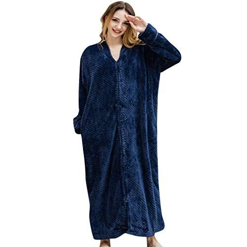 VPASS Women's Men's Fleece Soft Bathrobe Tie Front Shawl Dressing Gown Bath Robe Cotton Luxury Long Marks and Spencer Robe