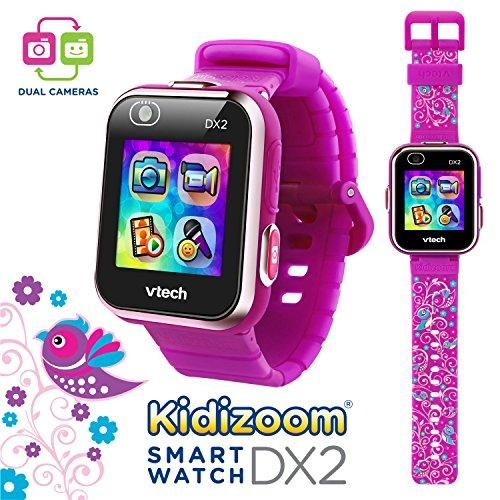 Vtech 80-193819 Kidizoom Smartwatch DX2 Special Edition Floral Birds with Bonus Vivid Violet Wristband
