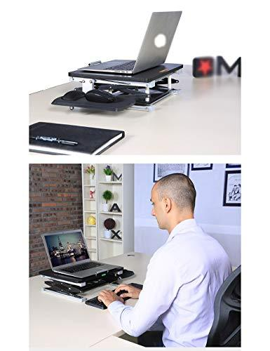 VYN Household Folding Laptop Table Desk Tray Stand with Mouse Board,Black,