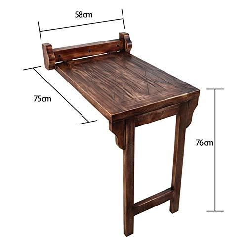 VYN Household Solid Wood Wall Table Collapsible Dining Table for Balcony Small Apartment