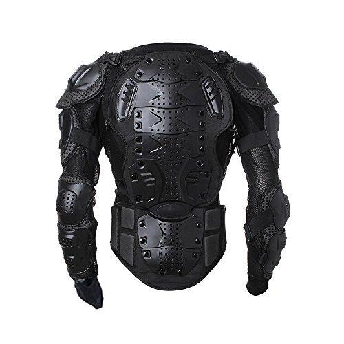 Walktorock Men's Motorbike Motorcycle Protective Body Armour Armor Jacket Guard Bike Biker Motocross Gear Black (Large)