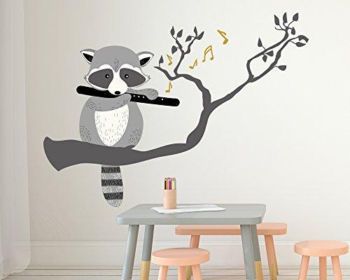 Wall Sticker Racoon for the Nursery - 115 x 85 cm