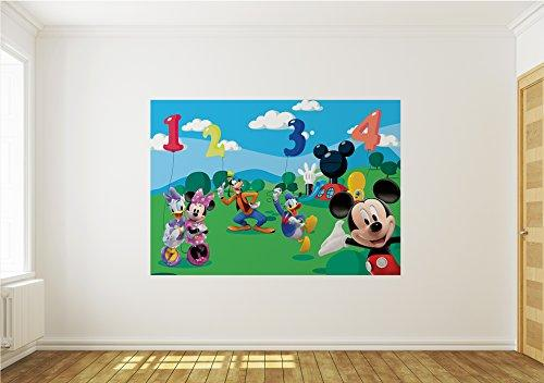 Wallpaper Mural MICKEY MOUSE Fleece Photo Wallpaper Kids Wall Murals (4-029VE) (4. (208x146cm) (WxH) XL- 2 panels)