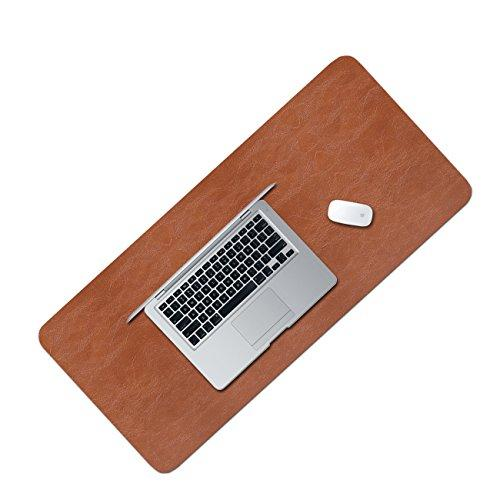 WALNEW Extended Mouse Mat Large Size Anti Slip Desk Mat Gaming Mat Laptop Mat 80 x 40 cm, Brown