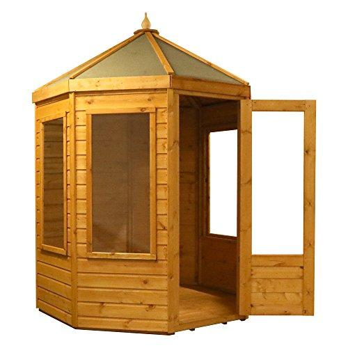 WALTONS EST. 1878 6x6 Wooden Octagonal Summerhouse Shiplap T&G Styrene Single Door Garden Building Summer House, 6ft Free 3-5 Day Delivery + 10 Year Anti Rot Guarantee From Waltons