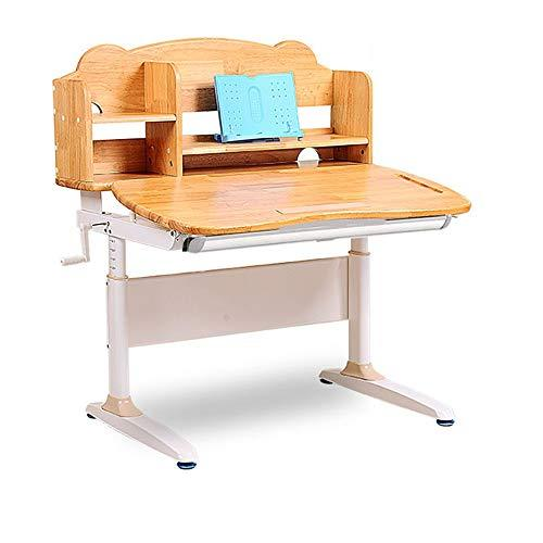 Wanlianer-Home Child Study Desk Chair Set Childrens Study Desk Chair Table Set Tiltable Table And Chair For Kids Art Wooden Table Set Work Station Height Adjustable (Color : Wood, Size : One size)