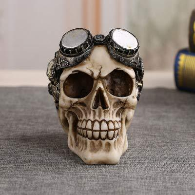 Wanson Resin Skull Decoration Swimming Gogglesskull Skeleton Replica Model On The Day Of The Dead Halloween Costume Parties, Carnival, Christmas, Easter 410G