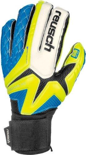 Waorani SG Impact Brazil 2014 Limited Edition Goalkeeper Gloves Safety Yellow/Ocean Blue - size 8.5