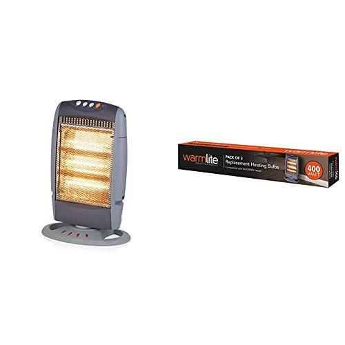 Warmlite Three Bar Halogen Heater and Replacement Bulbs