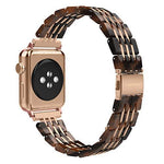 Wearlizer for Apple Watch Strap 38mm 40mm 42mm 44mm, Stainless Steel Metal Mesh iWatch Straps Replacement Band Bracelet Wristband Compatible with iWatch Series 4/3 / 2/1 - Gold 42mm 44mm
