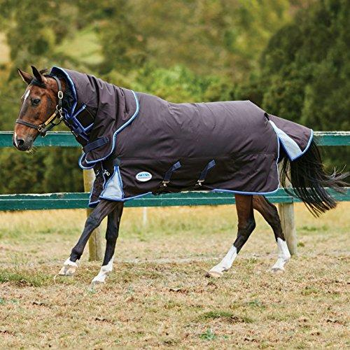 Weatherbeeta ComFiTec Ultra Cozi Detach A Neck M Horse Rug 5ft 9in Charcoal/Blue/White