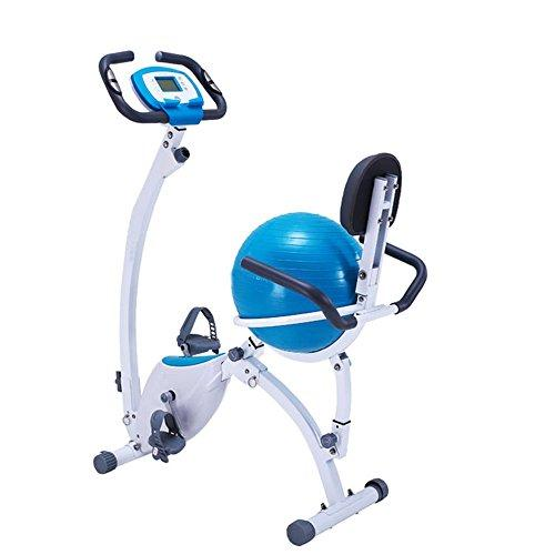Weentop Indoor Cycling Exercise Bike Home Magnetic Control Car Ribbon Car Office Fitness Folding Magnetic Control Rotating Prismatic Spinning Bicycle - Yoga Ball Cushion ideal Cardio Trainer