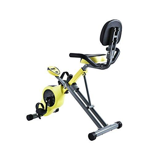Weentop Indoor Cycling Exercise Bike Home Office Fitness Folding Magnetic Control Rotating Spinning Bicycle Multi-function Lazy Car ideal Cardio Trainer (Color : Yellow)