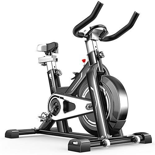Weentop Indoor Cycling Exercise Bike Intelligent Spinning Bike Advanced With Training Computer And Elliptical Cross Trainer ideal Cardio Trainer (Color : Black, Size : Free size)