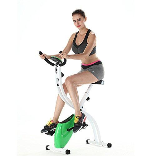 Weentop Indoor Cycling Exercise Bike S-shaped Household Ultra-quiet Two-way Folding Magnetic Control Fitness Bicycle Gym Spinning Bike ideal Cardio Trainer