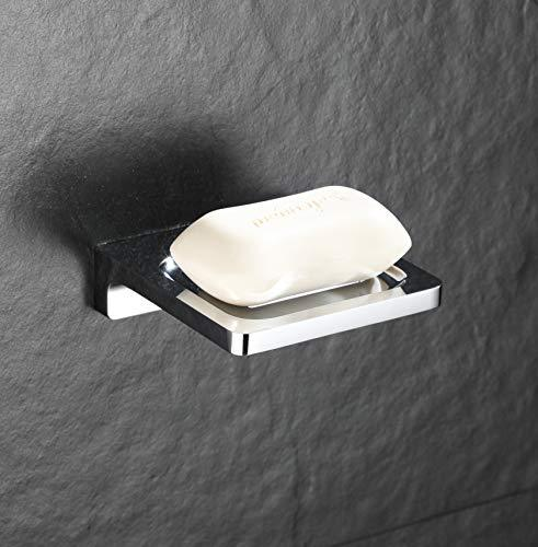 Wellsum Soap Dish Accessories For Bathroom Shower Bath Tub, Chrome Finished Never Rust!