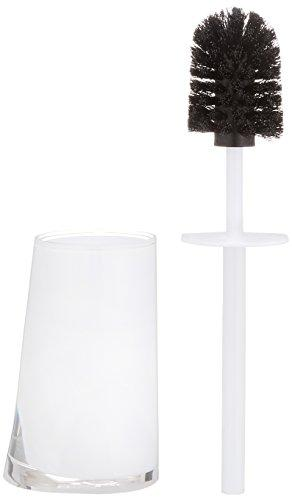 Wenko Paradise Toilet Brush Set, Acrylic White, 8.8 x 11.1 x 35.5 cm