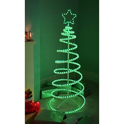 Werchristmas 5ft 150 cm flashing 3d spiral christmas tree rope light werchristmas 5ft 150 cm flashing 3d spiral christmas tree rope light silhouette green aloadofball Images