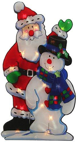WeRChristmas Pre-Lit 45 cm Snowman Double Sided Window Silhouette Christmas Decoration