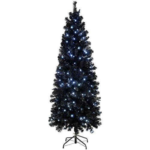 werchristmas pre lit slim christmas tree with 200 white led lights 6 ft - Slim Christmas Tree With Led Lights