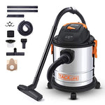 Wet and Dry Vacuum, TACKLIFE 3 in 1 Function Vacuum Cleaner with 18.9L Capacity Stainless Steel Body and 1000W Compact with Safe Buoy Technology, Wet/Dry Blowing for Dirt and Water- PVC02A