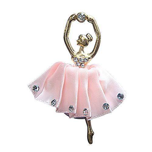 WFZ17 Car Interior Decor,Rhinestone Ballet Girls Car Air Vent Outlet Freshener Fragrance Perfume Clip - Pink