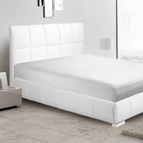 White Solid Fitted sheet UK King 33 cm deep pocket up to on your mattress egyptian cotton 650 Thread count sateen finish sheets.