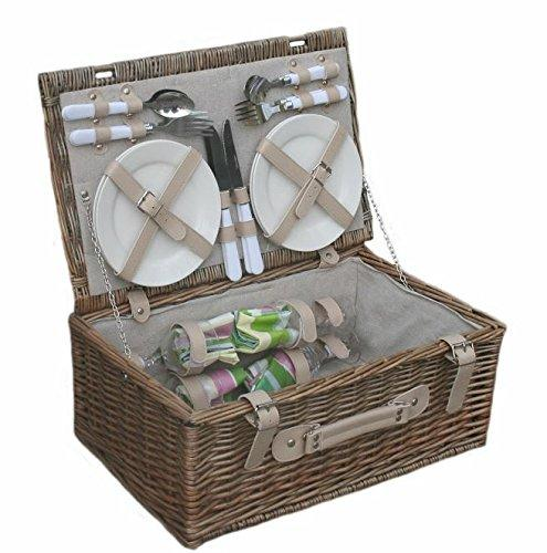 Wicker Willow Spring 4 Person Fitted Picnic Basket