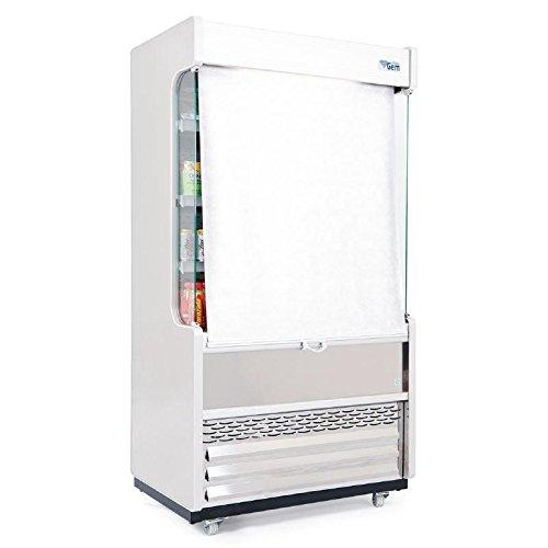 Williams Heavy Duty Gem 1250mm Slimline Multideck Stainless Steel with Nightblind / Commercial Shop Off Licence Cafe Display Refrigeration