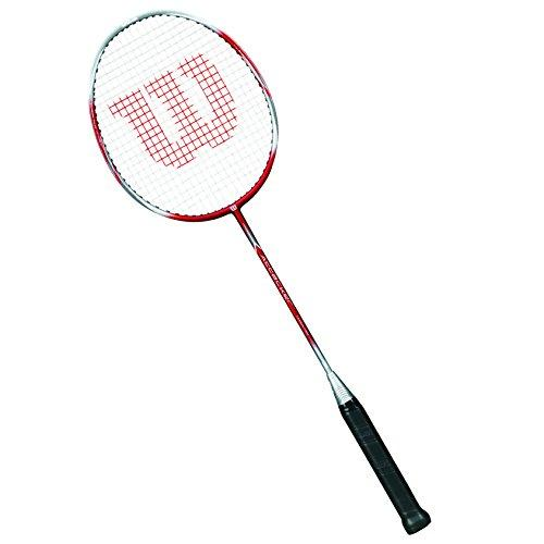Wilson Badminton Racket, Attacker, Unisex, Grip Size: 4, Red/Silver, Head Heavy, WRT8719304