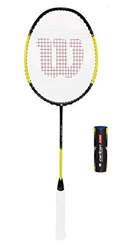 Wilson Blaze Series Badminton Rackets (Various Options) (Blaze 270 + 6 Shuttles (Black/Yellow))