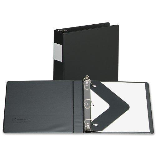 "Wilson Jones 383 Line Basic D-Ring Binder, 3"" Capacity, 8.5"" x 11"" Sheet Size with Label Holder and Label Insert, Black (W383-49NHB) by Wilson Jones"