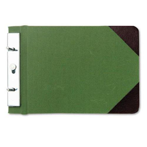 "Wilson Jones Canvas Sectional Storage Post Binder For 8-1/2 X 5-1/2 Sheets, 2-3/4"" Post Spacing, Green Canvas, W278-05A by Wilson Jones"
