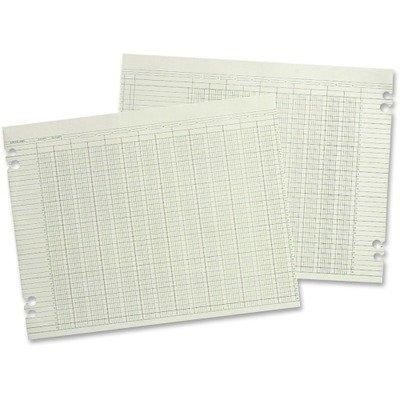 Wilson Jones G106 - Accounting Sheets, Six Column, 9-1/4 x 11-7/8, 100 Loose Sheets/Pack, Green by Wilson Jones