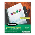 Wilson Jones Super Heavy Weight Sheet Protector, Non-Glare Finish, Clear, 50 per Box (21401) by Wilson Jones
