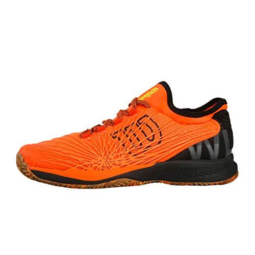 Wilson Men's Tennis Shoes, Kaos 2.0 SFT, Orange/Black/Yellow, Size 13.5, Synthetic, for All Surfaces, All Levels, Wrs325580E135