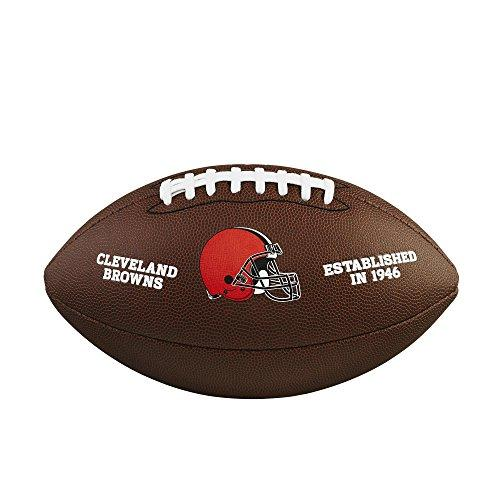 Wilson NFL Team Logo Composite Football, Official - Cleveland Browns