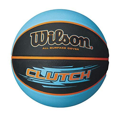 Wilson Outdoor basketball, Rough Surfaces, Asphalt, Synthetic Floors, Size 7, 12 years and up, Clutch, Black/Blue, WTB1430XB