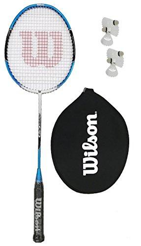 Wilson Power Blue Badminton Racket + 6 Shuttles